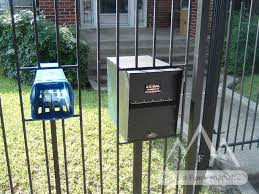 Iron Fence Mail Box Wooden Fence Fence Gate Design Fence Decor