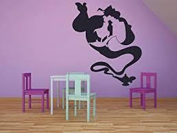 Amazon Com Genie Jasmine Magic Carpet Lamp Aladdin Wall Sticker Vinyl Wall Art Decal For Girls Boys Baby Kid Bedroom Nursery Daycare Kindergarten Home Decor Stickers Wall Art Vinyl Decoration Size 30x25 Inch