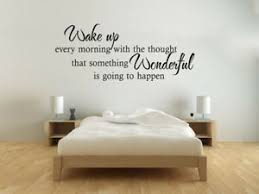 Bedroom Wake Up Wall Art Quote Modern Transfer Pvc Decal Room Decor Ebay