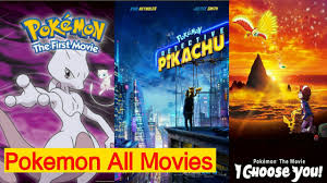 Pokemon All Movie List ( 1998 - 2000 ) - ImRaN TooN - YouTube