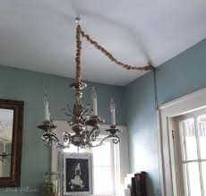 chandelier in a room without wiring