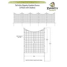 Zippity Outdoor Products Tall Black Metal Garden Fence Kit 5 Pack 42 Buy Products Online With Ubuy Costa Rica In Affordable Prices B01n0zjv6h