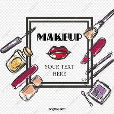 cartoon beauty makeup posters vector