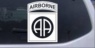 Army 82nd Airborne Car Or Truck Window Laptop Decal Sticker White 6x4 5 Ebay