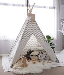 Tiny Land Teepee Tent For Kids With Padded Mat Hammock Town
