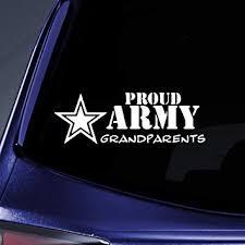 Amazon Com Bargain Max Decals Proud Army Grandparents Sticker Decal Notebook Car Laptop 6 White Automotive