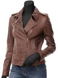 biker jacket women brown leather jacket