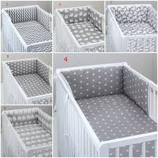bedding set grey baby bed cot pillow