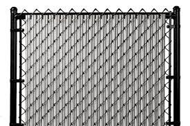 Chain Link Brown Single Wall Ridged Privacy Slat For 4ft High Fence Bottom Lock