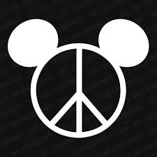 Mickey Head Peace Sign Vinyl Decal The Stickermart