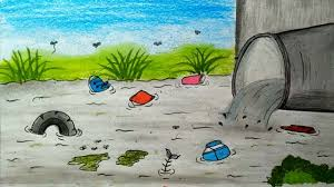 water pollution drawings sand water mixture