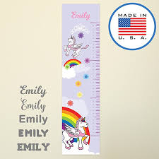 Wallclipz Personalized Growth Chart Fabric Wall Decal Pink Unicorn With Name Height Ruler Measurement Peel And Stick Rainbow Princess Kids Girls Nursery Measuring Removable Reusable Made In Usa Baby B076qmrv7r