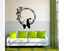 Panda Sleeps On A Bamboo Tree Wall Stickers Decals Art Living Room Decoration Ebay