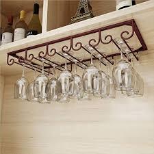 under cabinet wine hanging shelves