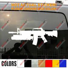 M4a1 M4 Carbine Car Decal Bumper Sticker 5 56 Mm M16 Rifle Ebay
