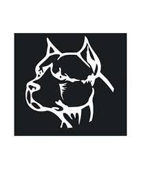 Pit Bull Head Decal Pit Bull Magnets The Pit Bull Princess