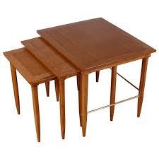 brass mid century nesting side tables