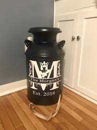 Milk Can Decal Personalized Decal Home Decor Antique Milk Etsy In 2020 Milk Can Decor Painted Milk Cans Old Milk Cans