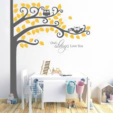 Large Owl Tree And Owl Always Love You Quotes Nursery Wall Art Stickers Kids Room Wall Decor Wish