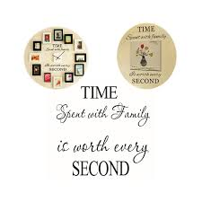 Family Wall Decals Time Spent With Family Is Worth Every Second Vinyl Vendiblesbyaarpee