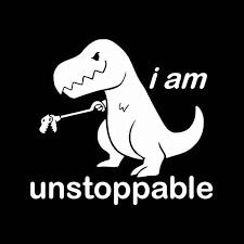 5 5 5 5 I Am Unstoppable T Rex Funny Decal Vinyl Sticker Cars Trucks Vans Walls Laptop Aliexpress