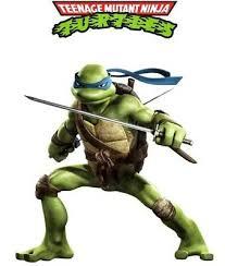 Teenage Mutant Ninja Turtle Leonardo Wall Decal Sticker Peel Stick Childs Room Ebay