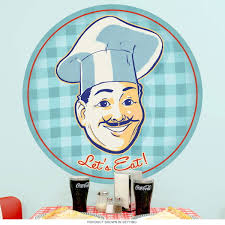 Lets Eat Italian Chef Restaurant Wall Decal At Retro Planet