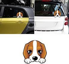 Amazon Com Brave669 Cute Dog Peeking Reflective Car Vehicle Door Rear Window Sticker Decal Decor Garden Outdoor
