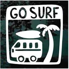 Go Surf Decal Car Window Sticker Decal Junky