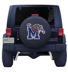 University Of Memphis Spare Tire Cover With Script Logo