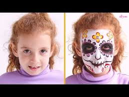 face paint a day of the dead skull