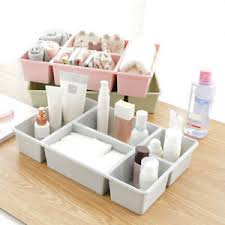 plastic makeup organizer 5 grids