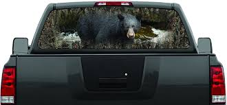 Black Bear Camo Hunting Rear Window Decal Graphic Truck Suv Ushirika Coop