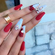 red acrylic nails designs 13 highpe