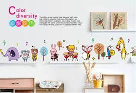 Forest Concert Animals Band Music Wall Sticker Stickers Home Decals Ho Littlezahrabookstore