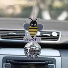 Bling Bumblebee Bee Otch Crystal Car Charm Ornaments Pendant Crystal Car Charms Car Charms Car Bling
