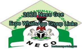 2020 Neco Gce Expo WhatsApp Group Links | Free Neco Gce Runs/ Runz ...