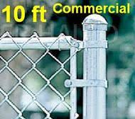 7 Ft Chain Link Fence Commercial Complete Package Kit Galvanized