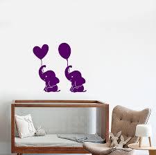 Vinyl Wall Decal Cartoon Baby Room Decor Elephant Air Balloons Sticker Wallstickers4you