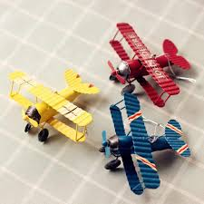 Vintage Biplane Model Mini Figurines Toys For Children Metal Iron Air Plane Model Aircraft Children Room Hanging Decor Kids Gift Diecasts Toy Vehicles Aliexpress