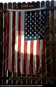 Tattered American Flag On Fence Stock Photo 13933861 Panthermedia Stock Agency