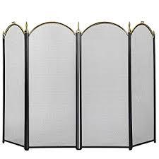 vivohome 4 panel fireplace screen mesh