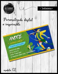 Copa America Brasil 2019 Invitacion Cumple Digital Mod 02