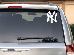 New York Yankees Vinyl Decal Yankees Car Window Decal New Etsy