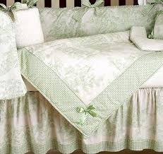sage french toile baby bedding 9pc