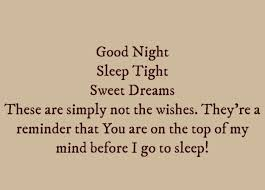 very best good night text messages for him