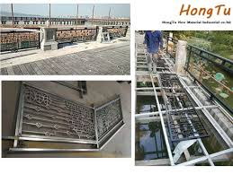 China Decorative Outdoor Public Project Art Fence China Aluminium Fence Stair Fence