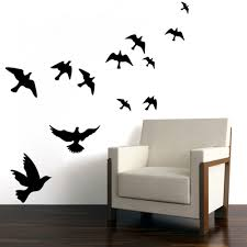 Flying Birds Self Adhesive Wall Decal Nature Unboxed