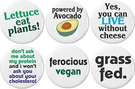 com set cute funny vegan quotes sayings buttons pins