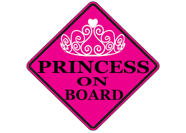 Buy Pink Princess On Board Sticker Car Window Decal Bumper For Girl Daughter Vehicle Safety Sticker Sign For Car Truck Suv 1 In Cheap Price On Alibaba Com